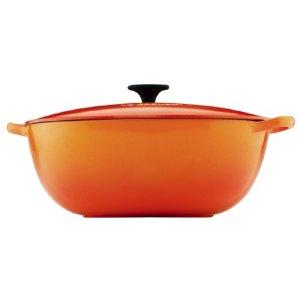 city chef kitchenware   le creuset bouillabaisse pot   flame